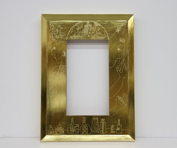 Gilded Frame with Punchwork