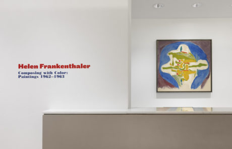 Helen Frankenthaler Composing With Color: Paintings 1962-1963 Exhibition Entrance