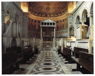 Interior of San Clemente in Rome