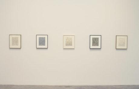 Five Framed Artworks by James Siena