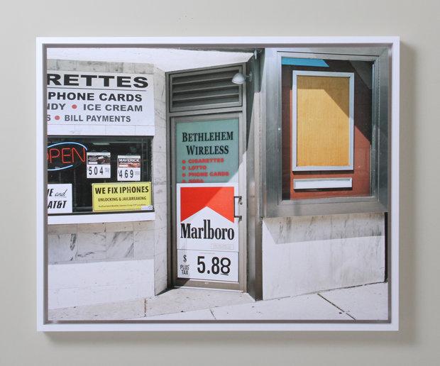 John Lehr Untitled Work of Art Framed by Bark Frameworks