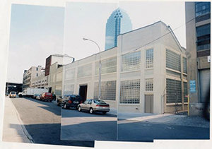 Photo Collage of Bark Frameworks Facility in Long Island City