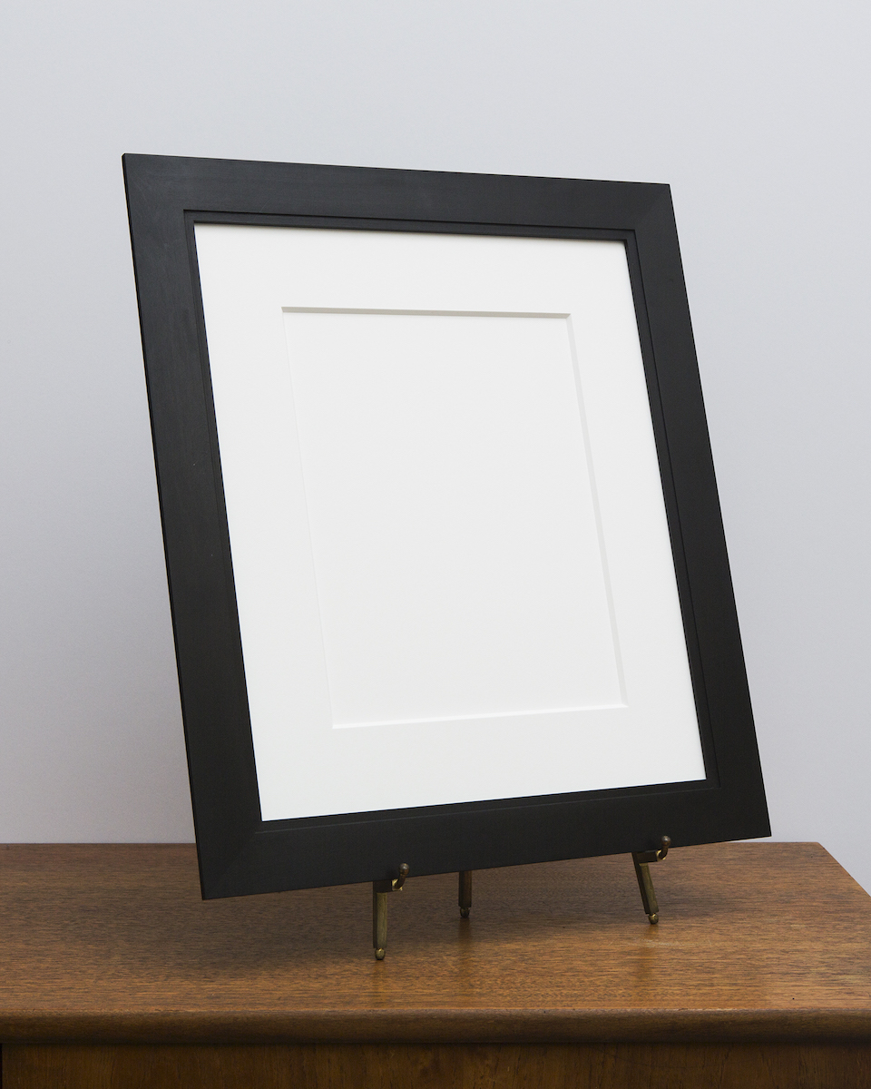 Manhassat Frame with Black Stain from Side