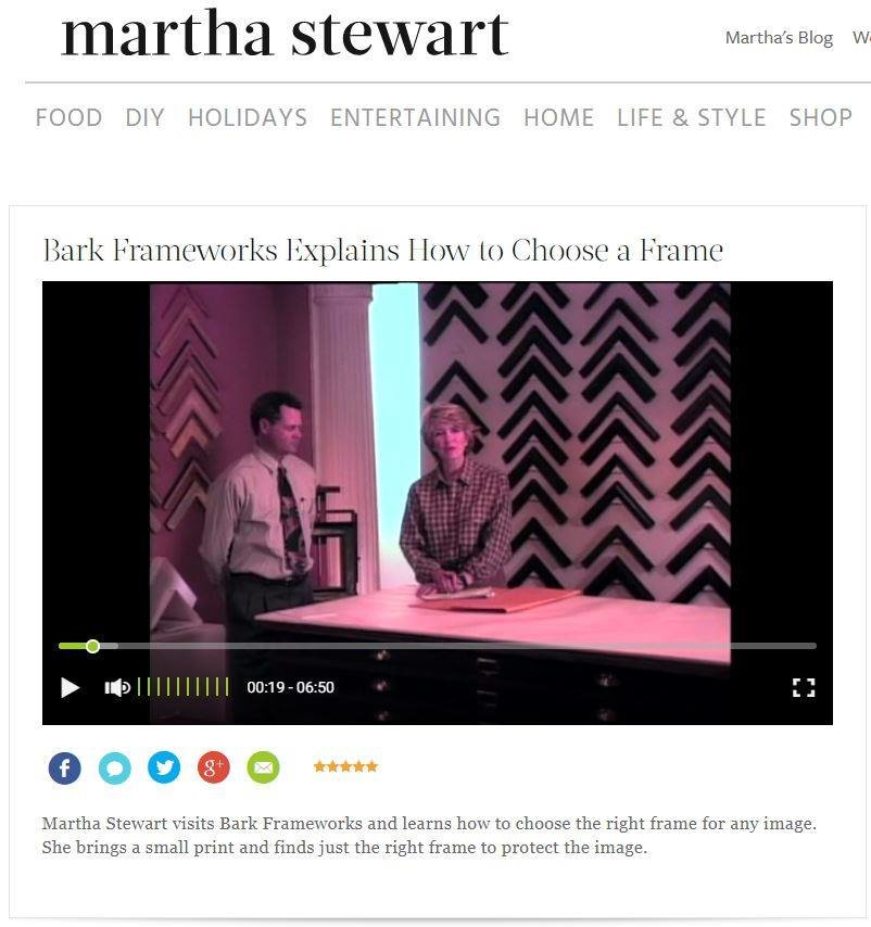 Martha Stewart Interviews Bark Frameworks