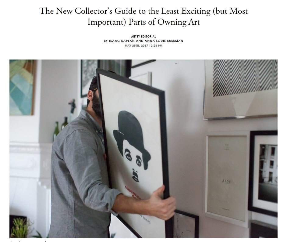 The New Collectors Guide to the Least Exciting (but Most Important) Parts of Owning Art