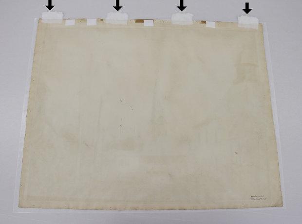 Pressure Sensitive Tape on Back of Watercolor