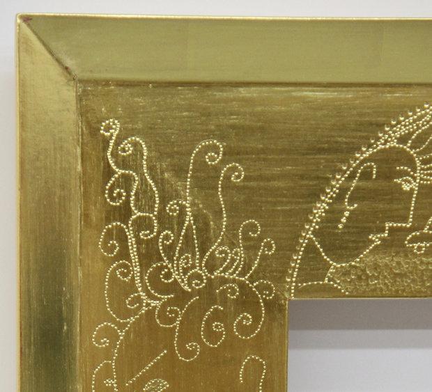 Punchwork Detail on Frame