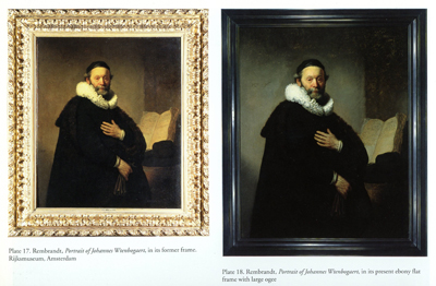 Comparison of Rembrandt Portrait in Old and New Frames