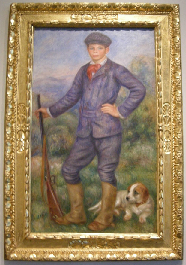 Renoir Painting of a Boy and Dog