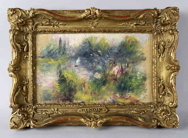 Renoir Painting in Gold Frame