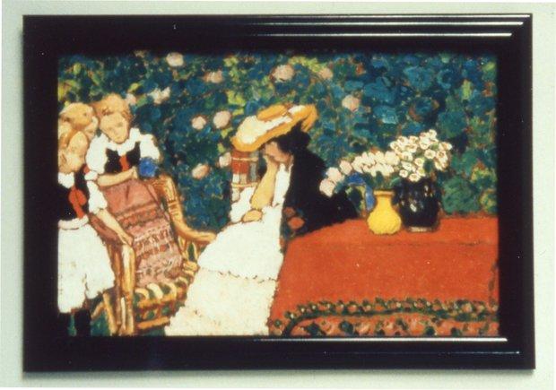 Rippl Ronai Painting of Woman and Three Girls