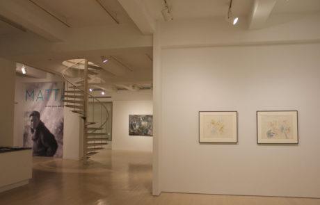 Roberto Matta Exhibition Entrance at Pace Gallery