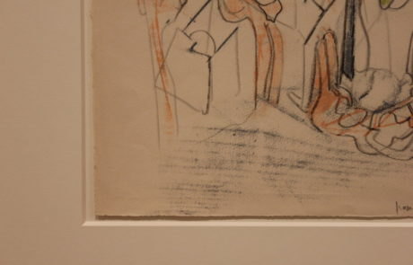 Corner Detail of Mat and Drawing by Roberto Matta at Pace Gallery