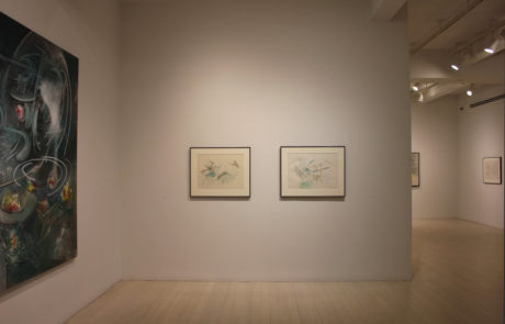 Roberto Matta Exhibition at Pace Gallery - Rooms with Diverse Artwork and Frames