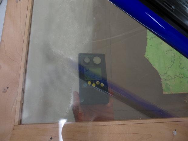 Measuring UV Values Through the Acrylic