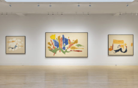 Three Framed Helen Frankenthaler Paintings at Gagosian Gallery