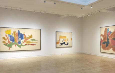 Three Framed Helen Frankenthaler Paintings Across Two Walls at Gagosian Gallery