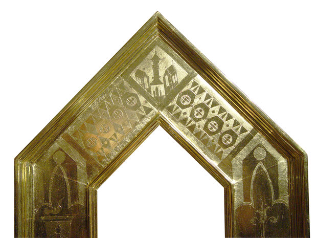 Top Center of Gothic Mirror Frame
