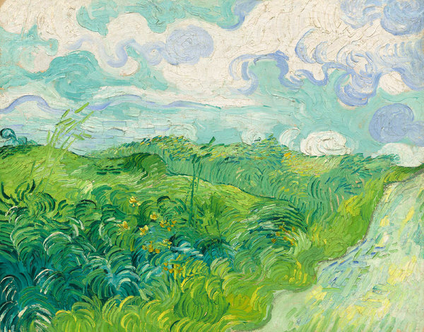 Vincent van Gogh's Green Wheat Field Painting