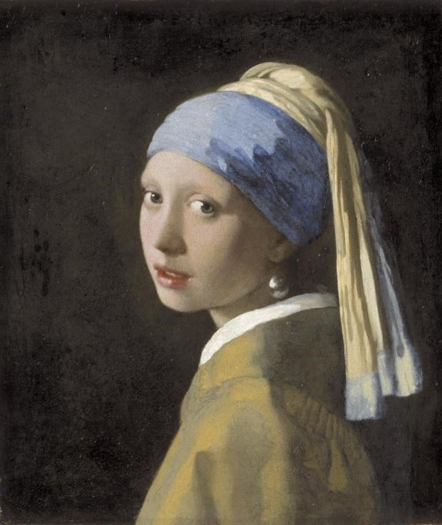 Johannes Vermeer Painting Girl with a Pearl Earring
