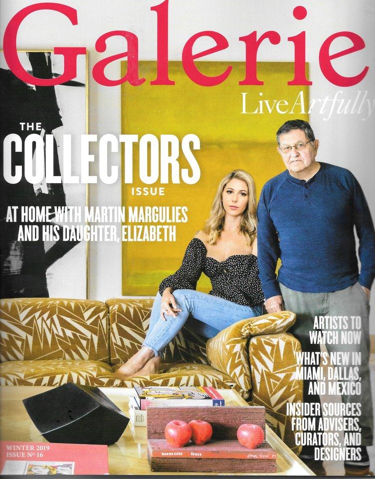 Cover of Galerie magazine winter 2019