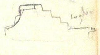 Edgar Degas Frame Profile Sketch from Degas Sketchbook