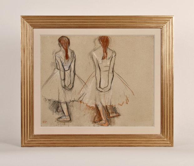 Edgar Degas Two Studies of a Dancer in a Bark Frameworks Frame