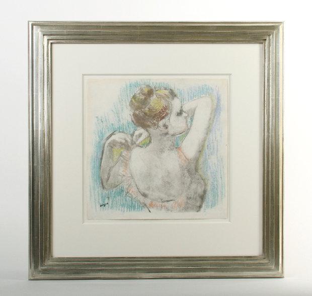 """Danseuse Buste, 1897,"" framed by Bark Frameworks, 2014."