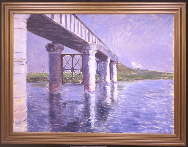Framed Gustave Caillebotte Bridge at Argenteuil from 1885-1887