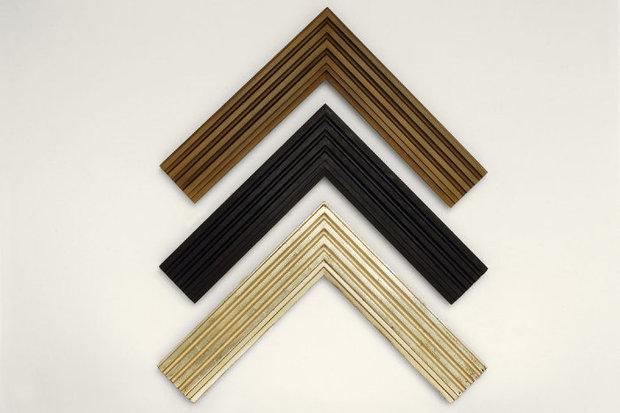 Three Bark Frameworks Corner Samples in Three Finishes